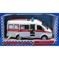 Машина Скорая помощь (23 см, свет и звук), Детская игрушка