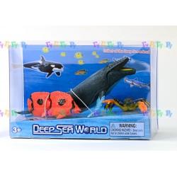 Набор фигурок Морские животные: Касатка, Морская звезда и Рыба-бабочка