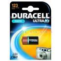 Батарейка Duracell CR 123 ULTRA M3 (900 мА/ч, 3В, литий (Lithium)). 1 шт. в упаковке.