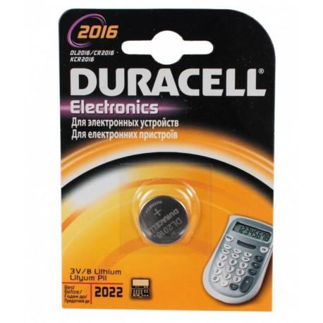 Батарейка Duracell CR 2016 (80 мА/ч, 3В, литий (Lithium)). 1 шт. в упаковке.