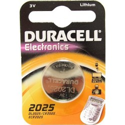 Батарейка Duracell CR 2025 (150 мА/ч, 3В, литий (Lithium)). 1 шт. в упаковке.