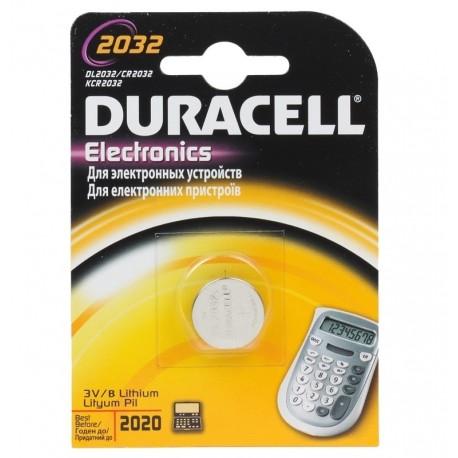 Батарейка Duracell CR 2032 (150 мА/ч, 3В, литий (Lithium)). 1 шт. в упаковке.