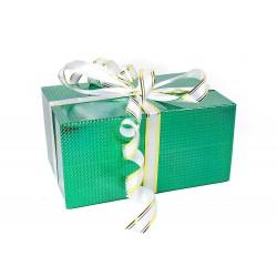 Подарочная коробка-трансформер: Зеленая голограмма (22х32х16 см)
