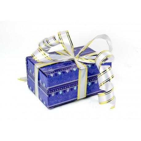 Подарочная коробка-трансформер: Новогодний сиреневый лес (19х9х13 см)