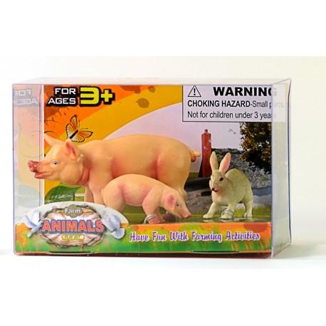 """Набор фигурок """"Ферма: Свинка с поросёнком"""""""