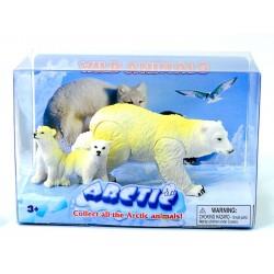 """Набор фигурок Антарктические животные: """"Белая медведица и Медвежата"""""""