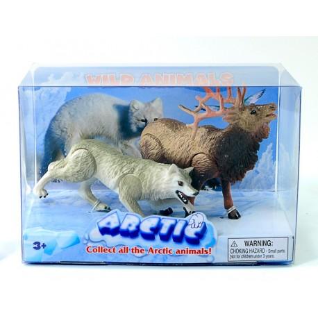 """Набор фигурок """"Антарктические животные: Волк и Олень"""""""