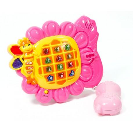 """Развивающая игрушка """"Весёлый телефон"""" (изучаем буквы, цифры и цвета)"""