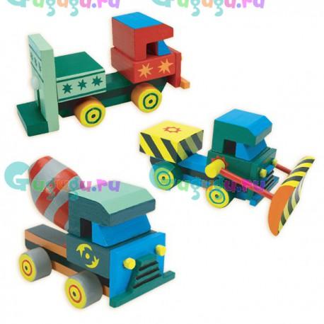 Развивающий набор для настоящего мужчины: Собери и раскрась грузовик (3 игрушки в комплекте)