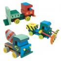 Развивающий набор: Собери и раскрась грузовик (3 игрушки в комплекте)