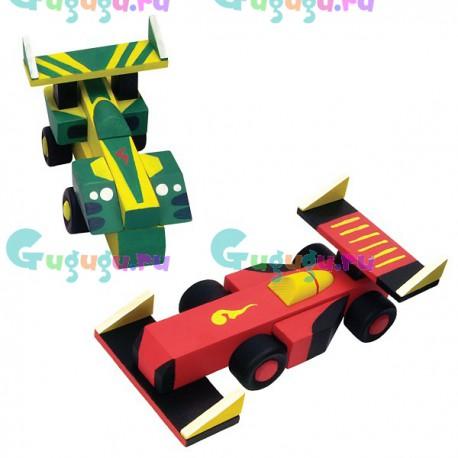 Развивающий набор для настоящих мужчин: Собери и раскрась гоночную машину (2 машины в комплекте)