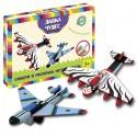 Развивающий набор: Собери и раскрась истребитель (2 самолета в комплекте)