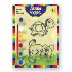 Набор для росписи витража: Панда и черепаха