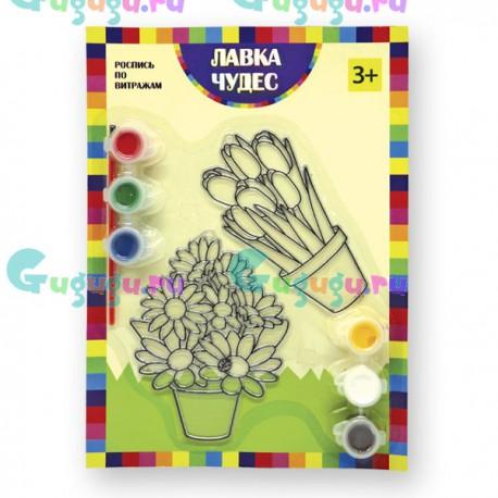 Детское творчество: Набор для росписи витража - Цветы